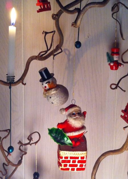 snemand, julemand, snowman, santa chimney
